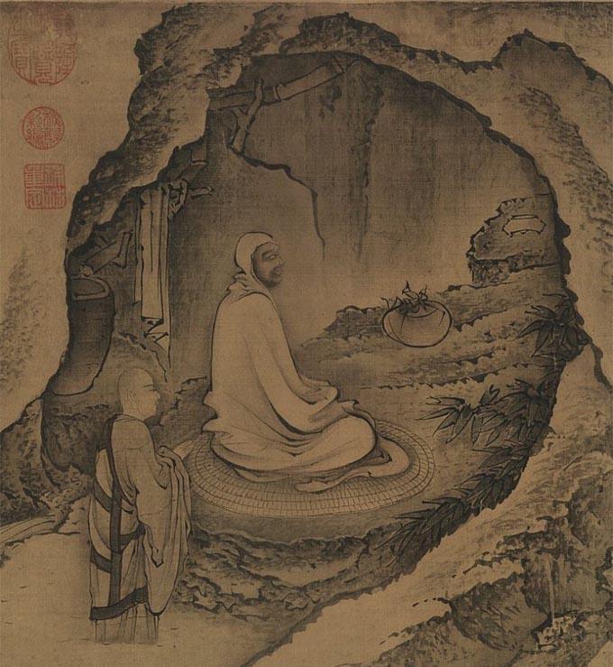 Bodhidharma en la cueva - Bodhidharma