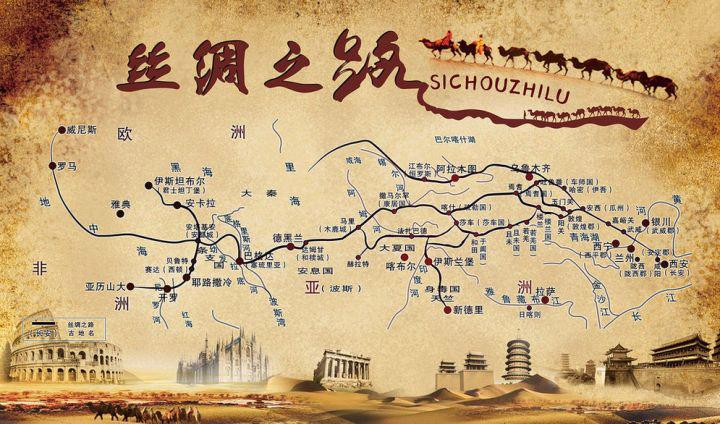 Mapa Antigua Ruta de la Seda - Zhang Qian y la Ruta de la Seda