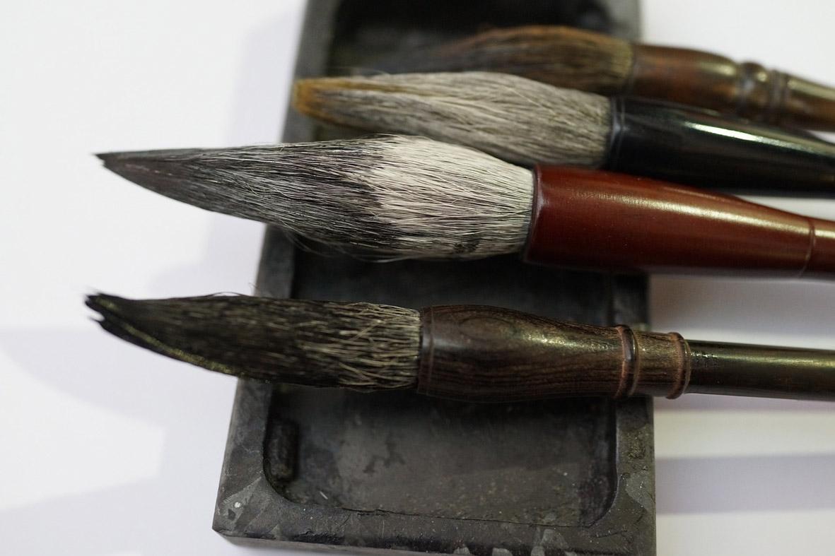 Pinceles y Piedra de Tinta - The Four Treasures of the Study