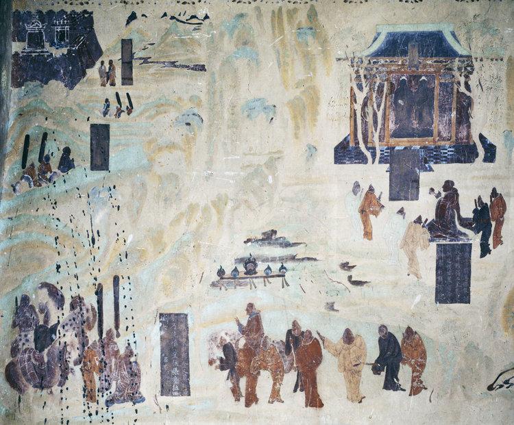 Pintura Viaje Zhang Qian - Zhang Qian y la Ruta de la Seda