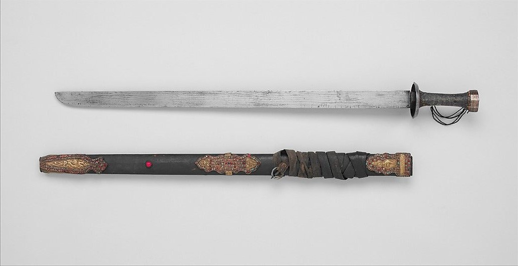 Sable recto tibetano - The Chinese Sabre: History and Evolution
