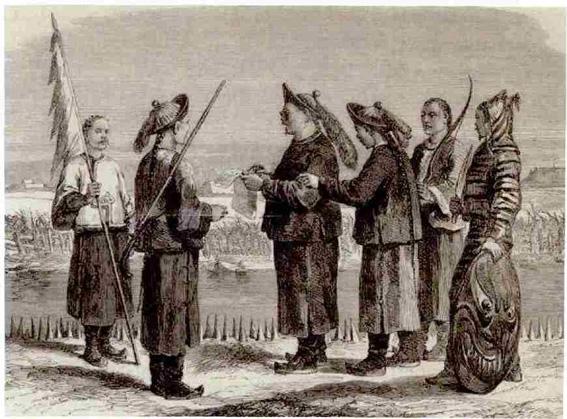"""Ilustración con Soldado Tigre - Los """"Tigres de la Guerra"""" de la Dinastía Qing"""