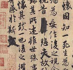 Lantingji Xu de Feng Chengsu detalle - El Lantingji Xu: Poesía y Embriaguez en el Pabellón de las Orquídeas
