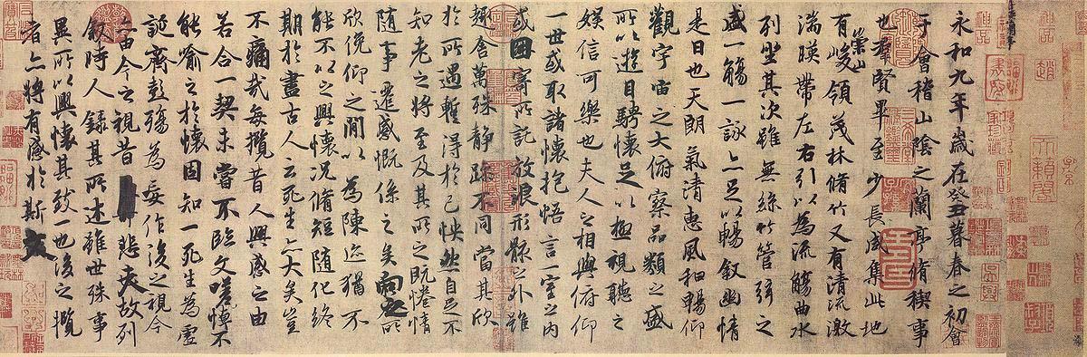 Lantingji Xu de Feng Chengsu - El Lantingji Xu: Poesía y Embriaguez en el Pabellón de las Orquídeas