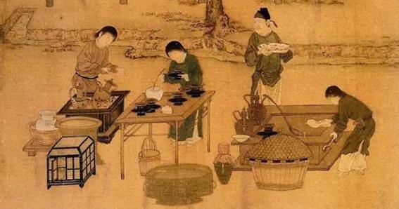 historia del té, tea history, tea consumption, boiled tea, té hervido, té batido, whisked tea